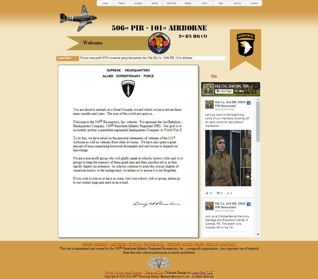 506th Airborne Website Image