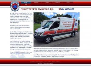 County Medical Transport Website Image