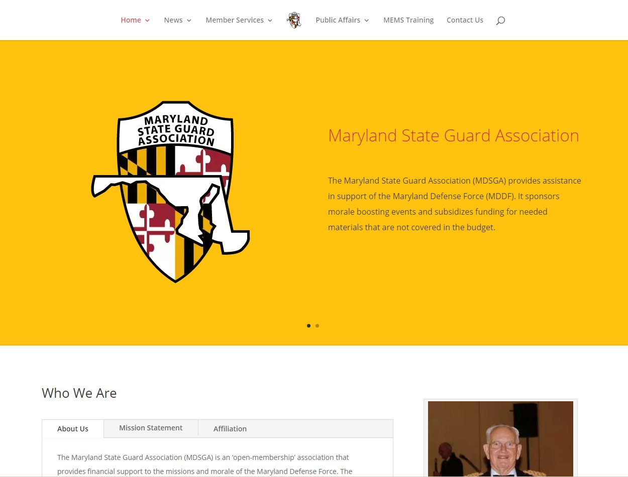 Maryland State Guard Website Image