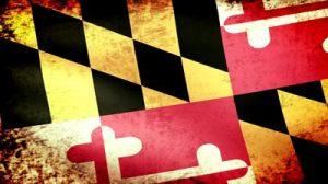 Maryland Flag Grunge Image